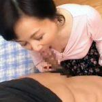 【近親相姦熟女動画】還暦間近の五十路巨乳母が息子のチンポを淫語を発しながらフェラチオし口内発射!