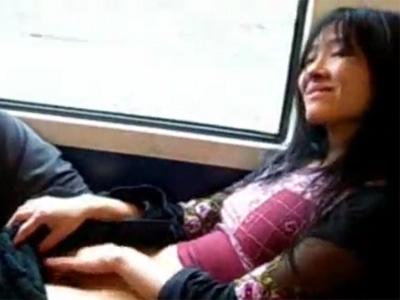 【オナニー熟女動画】電車内で四十路素人の細身の綺麗な奥様が自慰行為してヨガリ出す!