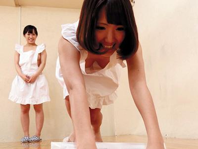 【三十路熟女動画】素人ママさん達が裸エプロン姿で競い合って負けると過激な罰ゲームを受けるwww