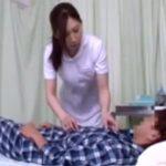 【佐々木あき熟女動画】入院中の少年が憧れのモデル級美人ナースと病室で濃厚エッチ!