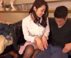 【北条麻妃熟女動画】ドスケベな美熟女が夫の寝てる横で若い男のチンポを弄び中出しセックス!