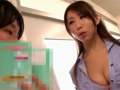 【篠田あゆみ熟女動画】美巨乳美人女教師が体育倉庫で生徒に課外授業で濃厚セックス!