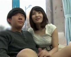 【素人若妻動画】マジックミラー号で可愛い奥様が童貞君と筆おろしセックス!